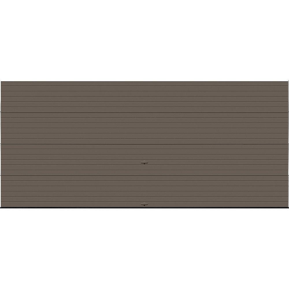Clopay Porte de garage Griffintown 16pi x 7pi isolée Intellicore Valeur «R» 18.4 Fini Bronze