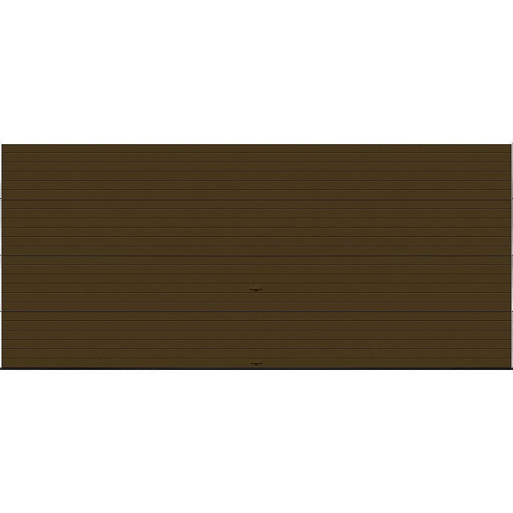 Clopay Porte de garage Griffintown 16pi x 7pi isolée Intellicore Valeur «R» 18.4 Fini Chocolat