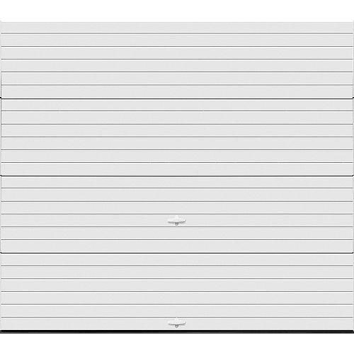 Clopay Porte de garage Griffintown 9pi x 7pi isolée Intellicore Valeur «R» 18.4 Fini Blanc