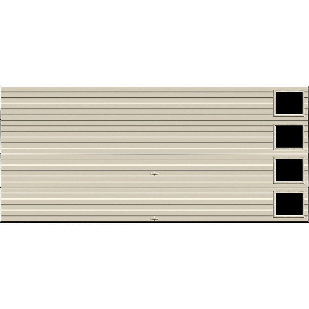 Clopay Porte de garage Griffintown 16pi x 7pi isolée Intellicore Valeur «R» 18.4 Fini Dune avec fenêtre