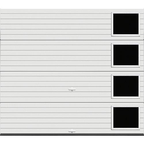 Clopay Porte de garage Griffintown 9pi x 7pi isolée Intellicore Valeur «R» 18.4 Fini Blanc avec fenêtre