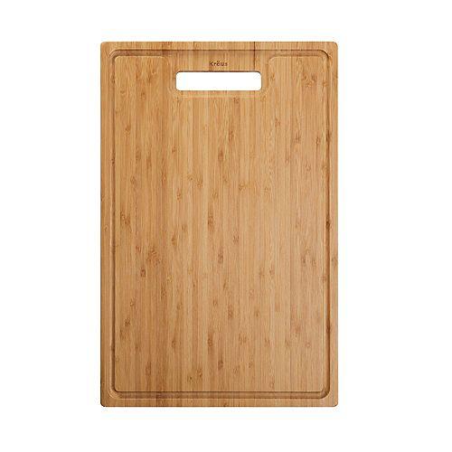 Bambou Solide organique Planche à découper pour évier de cuisine 18.5. x 12 po.