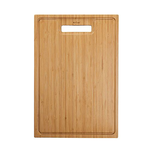 Bambou Solide organique Planche à découper pour évier de cuisine 17,5. x 12 po.