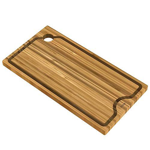 Poste de travail évier 9 po. Solid Planche à découper en bambou