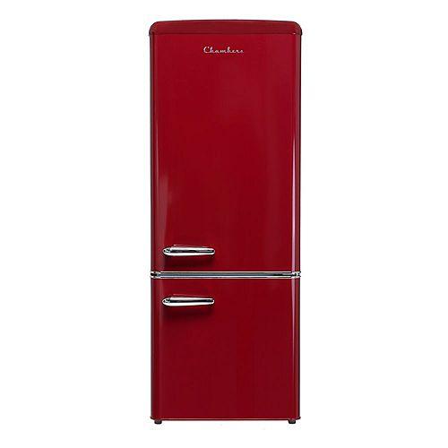 Chambers Chambers 57 inch H ,7 cu ft Bottom Freezer, Energy Star Refrigerator in Wine Red