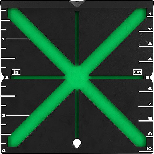 High Visibility Centering Alignment Target for Laser Level