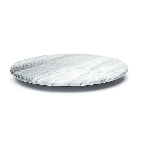 Plateau tourant en marbre, blanc