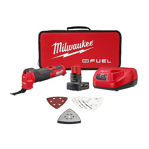 Milwaukee Tool M12 FUEL 12V Lithium-Ion Cordless Oscillating Multi-Tool Kit with 4.0 Ah Battery and Charger
