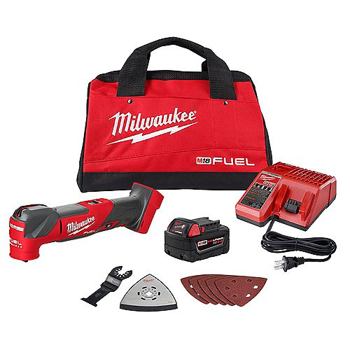 M18 FUEL 18-V Lithium-Ion Cordless Brushless Oscillating Multi-Tool Kit W/ 5.0Ah Battery & Charger