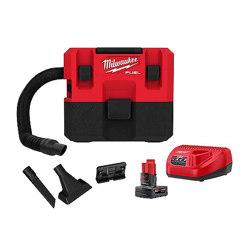M12 FUEL 12V1.6 Gal. Lithium-Ion Cordless Wet/Dry Vacuum Kit with 6.0 Ah Battery and Charger