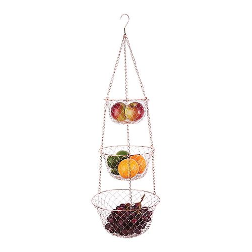 Hanging Wire Baskets Copper
