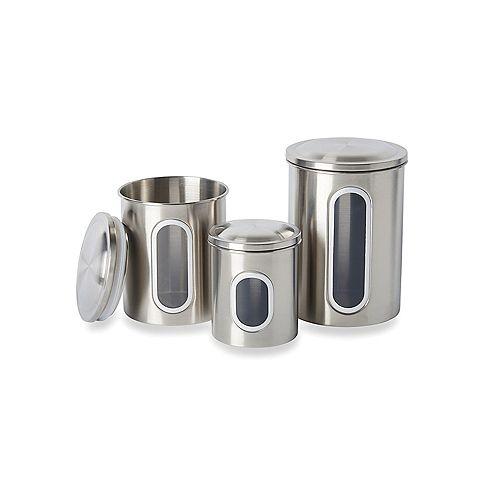 Ensemble de boîtes en acier inoxydable, 3 pièces