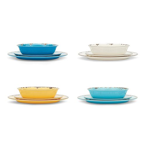 Melamine Dinnerware, Set of 12
