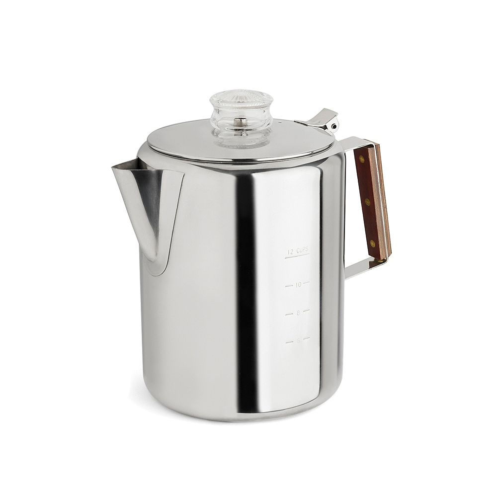 TOPS Stainless Steel Percolator, 12 Cup