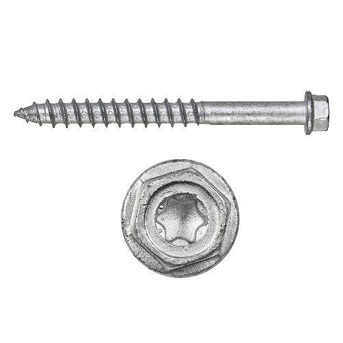 Kwik-Con II 1/4 inch x 4 inch Zinc Plated Carbon Steel Torx Hex Head Concrete Screw Anchor (100-Pack)