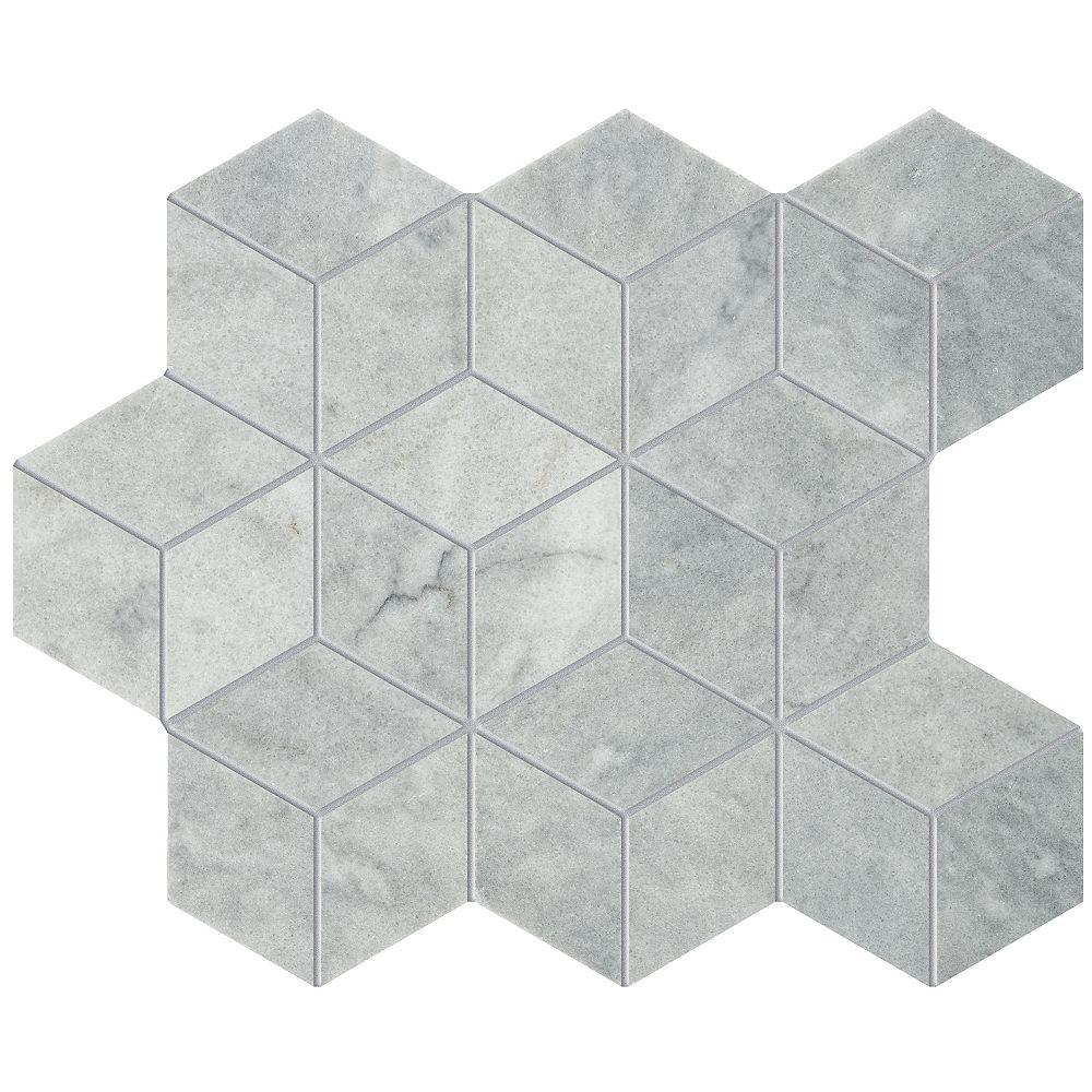 Enigma Mosaïques Forma Argento   en forme de losanges en marbre poli de 2 po