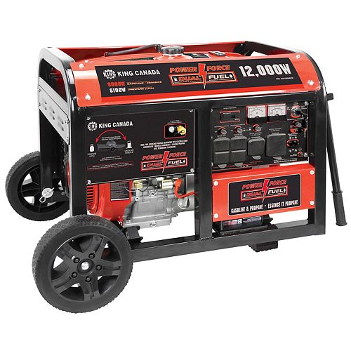 12,000W Gasoline/Propane Generator with Electric Start