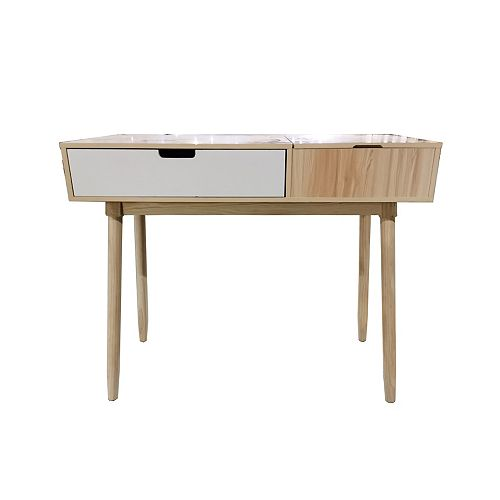 Leo 2 Tone Table with Flip Up