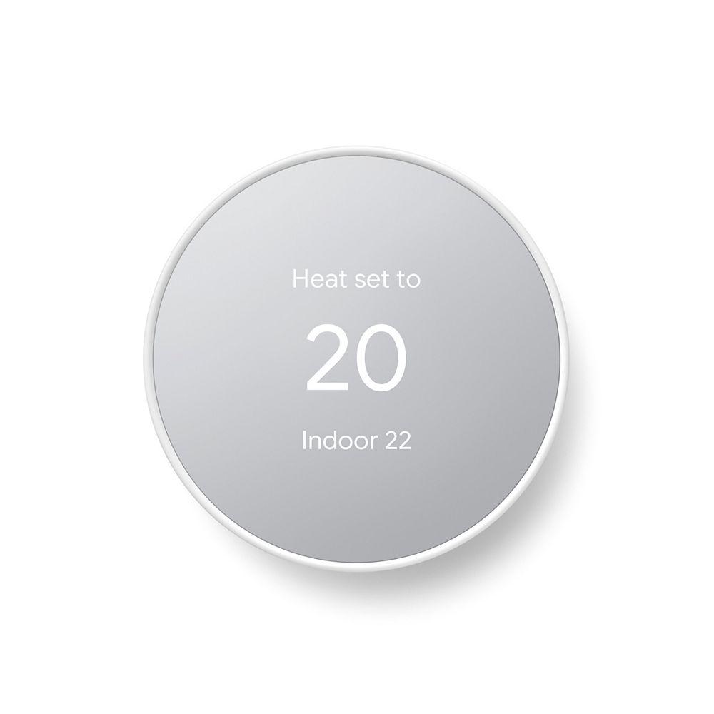 Google Nest Smart Home Thermostat Chalk