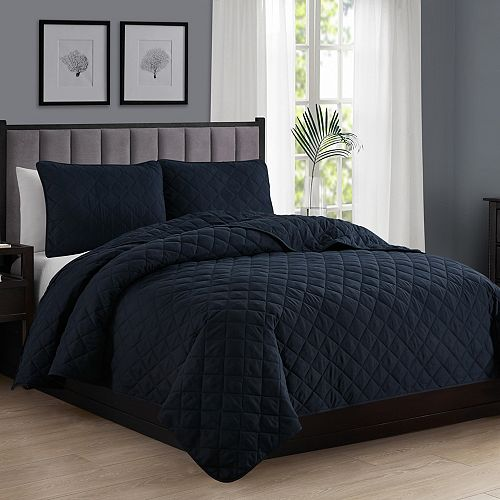 Solid Quilt Set NAVY DQ