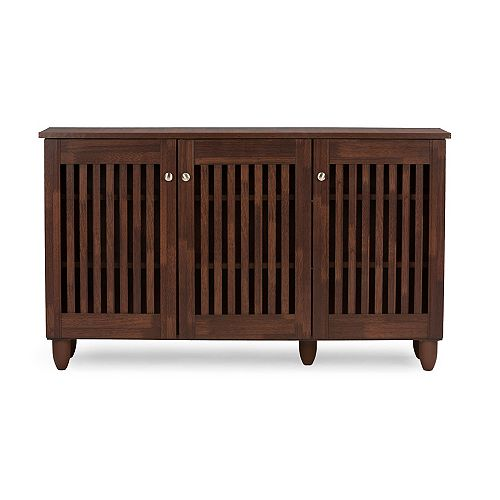 Fernanda Wood Shoe Storage Cabinet in Brown