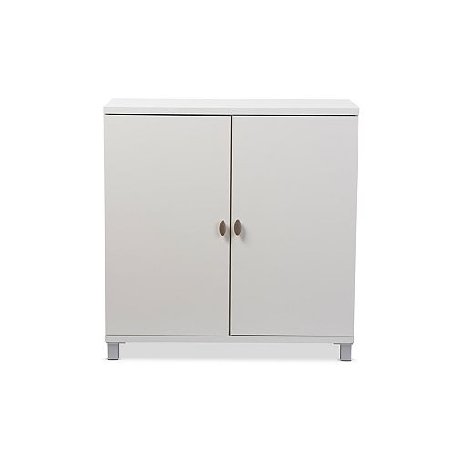 Marcy Wood Storage Cabinet in White