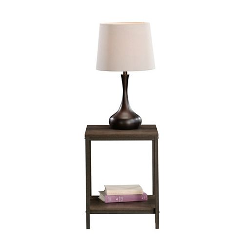 Sauder North Avenue Side Table in Smoked Oak