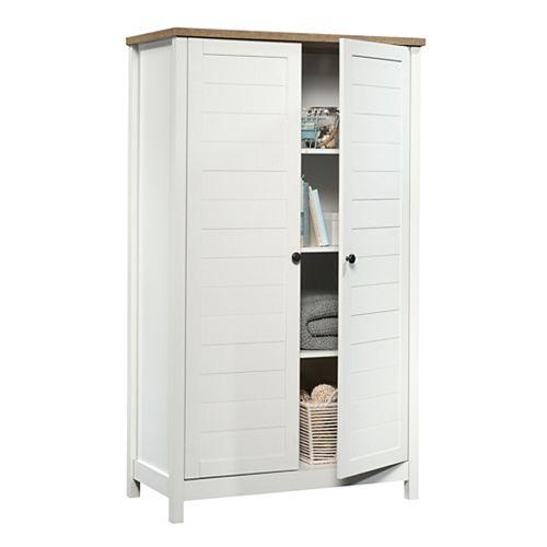 Sauder Cottage Road Storage Cabinet in Soft White