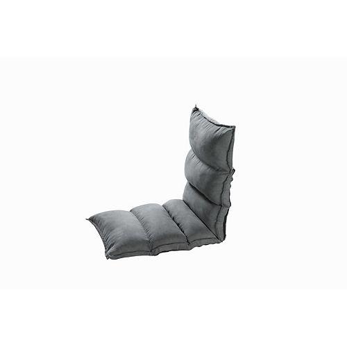 Cloud Chaise de plancher réglable en polyester gris foncé