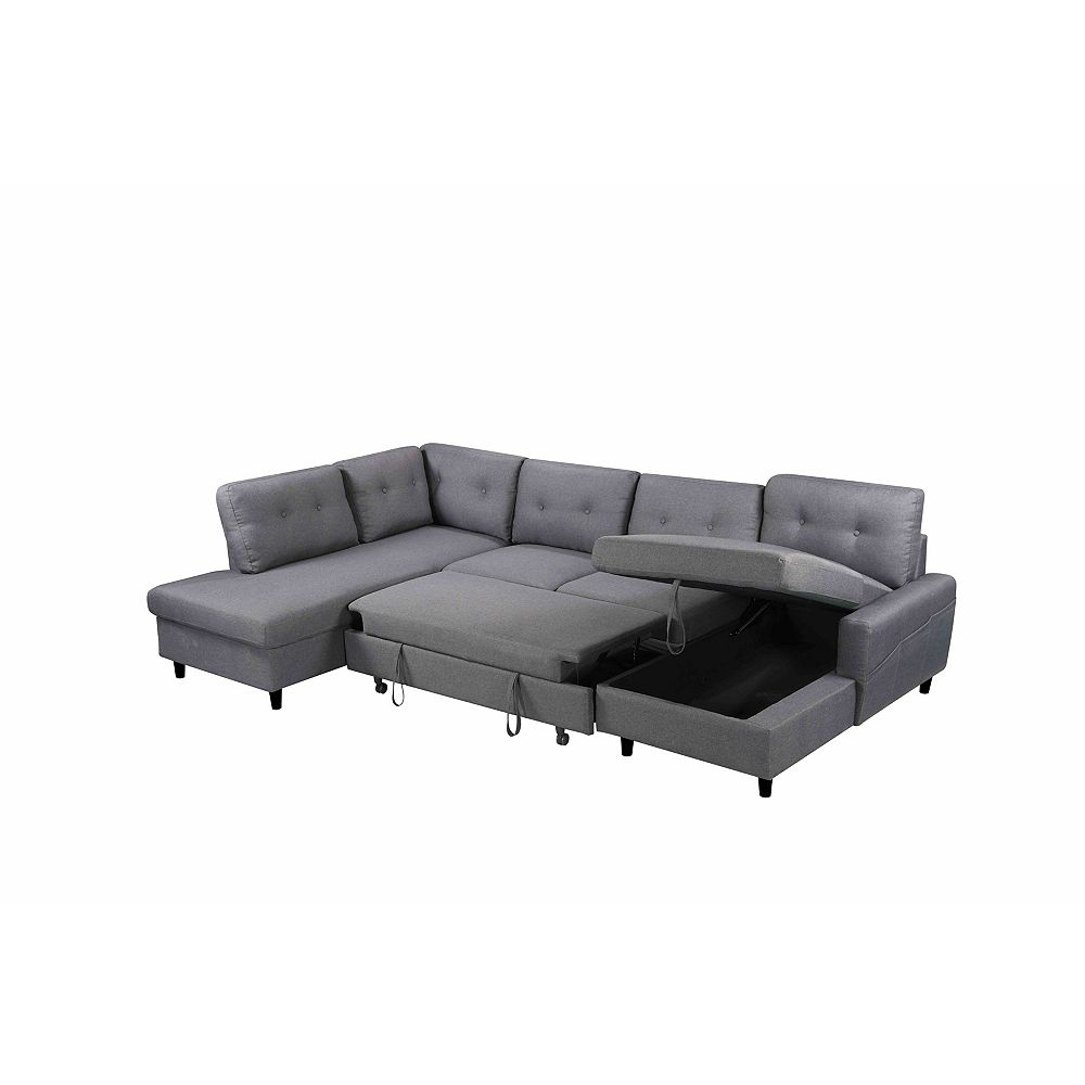 MONTREUX Reversible Polyester Sectional Sofa with Storage