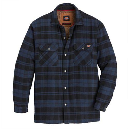 Veste-chemise en flanelle doublée en sherpa pour homme avec carreaux Hydroshield Ink Navy L