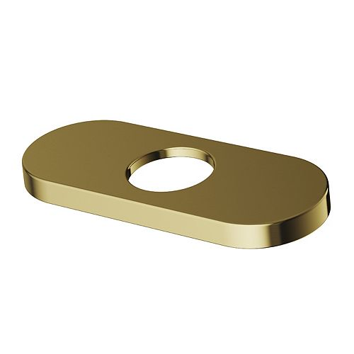 5.5 in. Deck Plate in Matte Brushed Gold