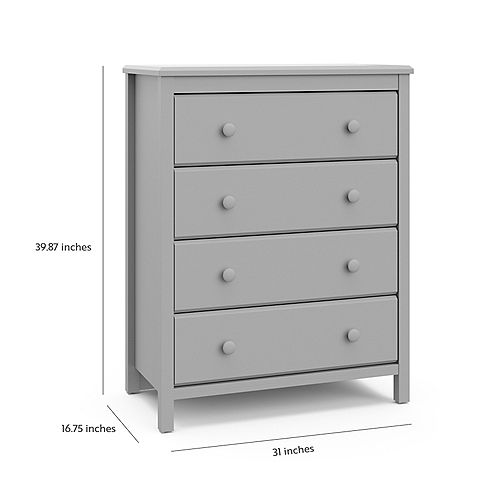 Alpine 4-Drawer Chest in Pebble Grey