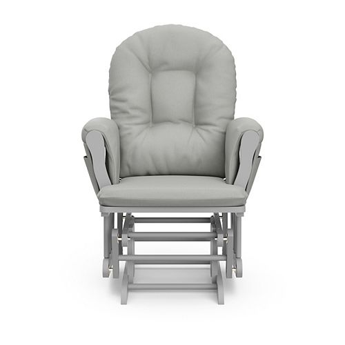 Pebble Grey with Light Grey Cushion Hoop Glider and Ottoman set