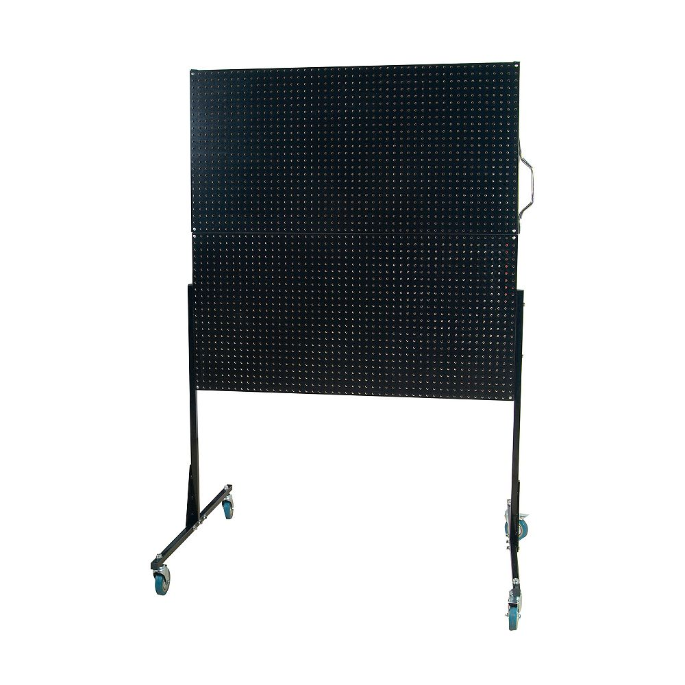 Triton 50 In. W Mobile Stand-Alone Pegboard Unit with 4 Black High Density Fiberboard Pegboards