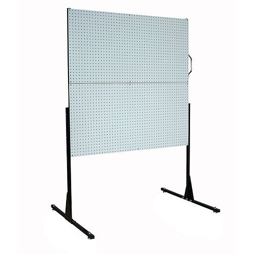 50 In. W Free-Standing Pegboard Unit with 4 Polypropylene DuraBoard Pegboards