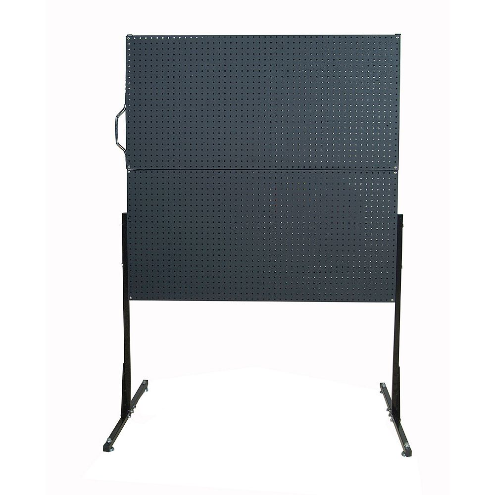 Triton 50 In. W Free-Standing Pegboard Unit with 4 Black Polyethylene Matte Finish DuraBoard Pegboards