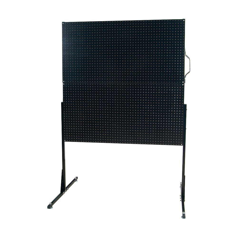Triton 50 In. W Free-Standing Pegboard Unit with 4 Black High Density Fiberboard Pegboards