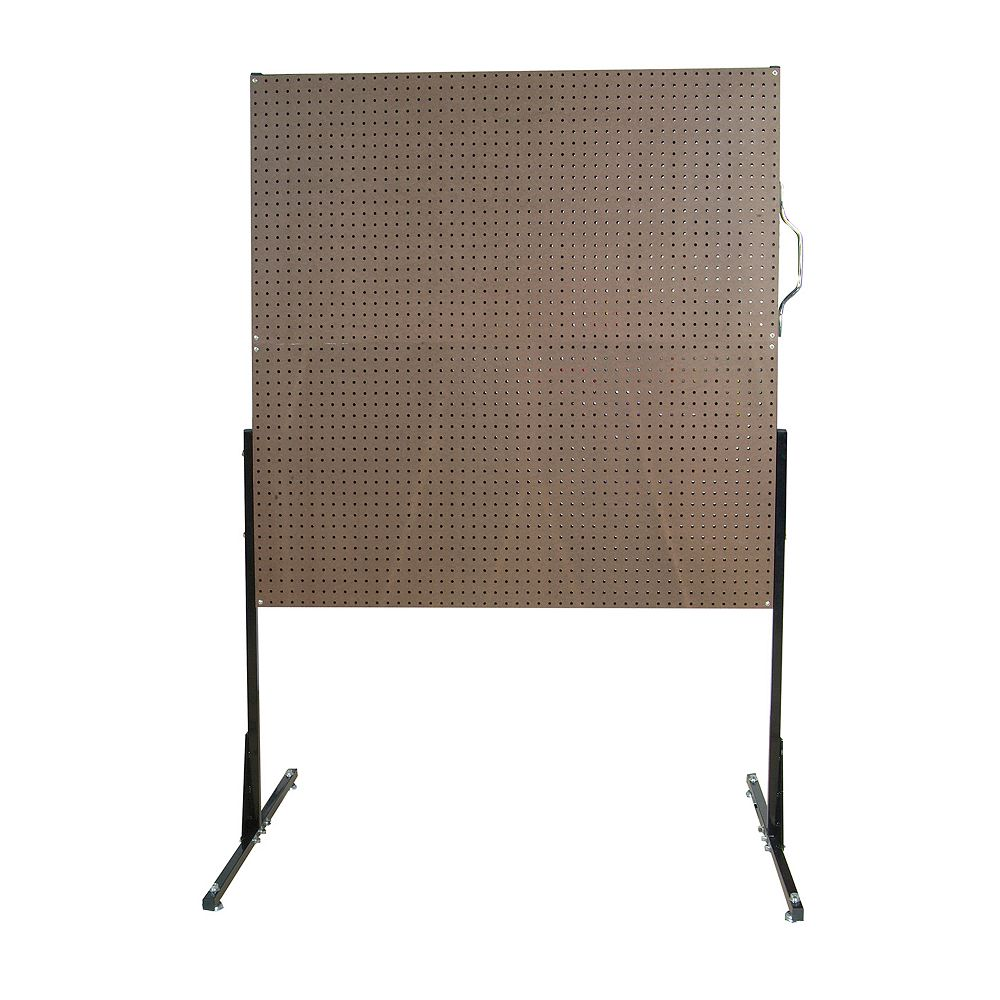 Triton 50 In. W Free-Standing Pegboard Unit with 4 Brown Tempered Wood Pegboards