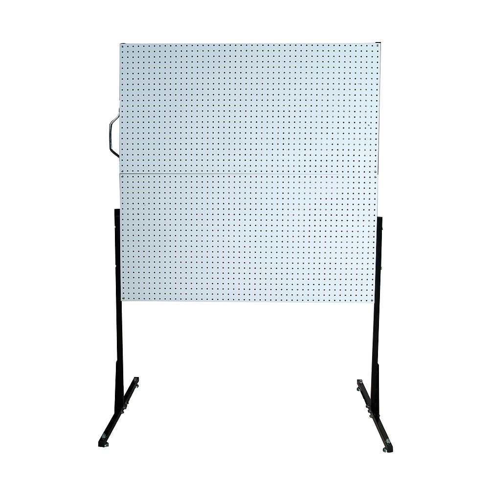 Triton 50 In. W Free-Standing Pegboard Unit with 4 White High Density Fiberboard Pegboards