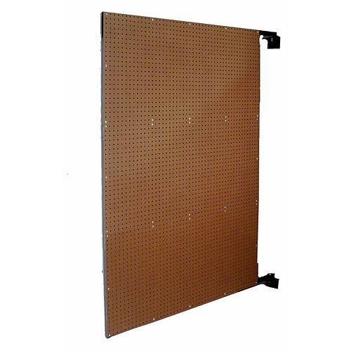 48 In. W x 72 In. H x 1-1/2 In. D Wall Mount Double-Sided Swing Panel Pegboard