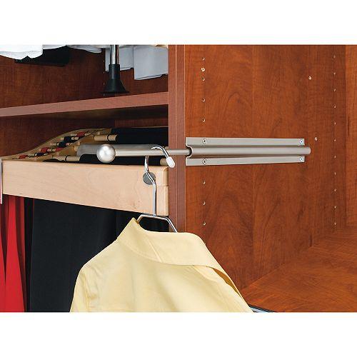 12 in (305 mm) Closet Standard Valet Rod - satin nickel