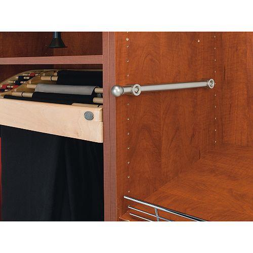 14 in (356 mm) Closet Designer Valet Rod - Satin Nickel