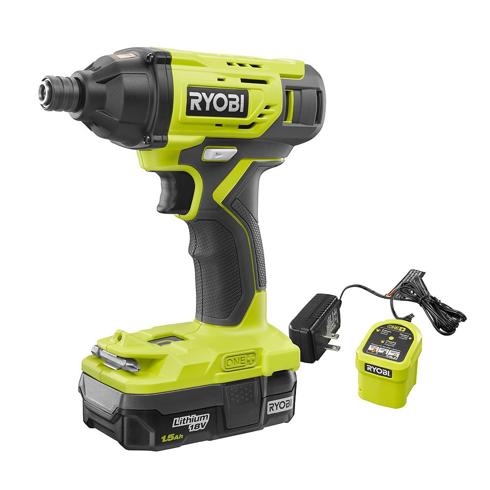 RYOBI 18V ONE+ Cordless Impact Driver Kit with (1) 1.5 Ah Battery and Charger