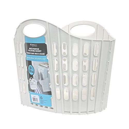 COLLAPSIBLE BASKET - 38 LITRE IVORY