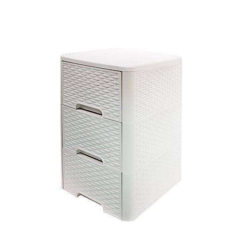 Meuble 3 tiroirs style rotin de Modern Homes