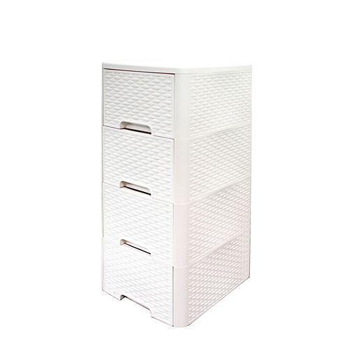 Meuble 4 tiroirs style rotin de Modern Homes