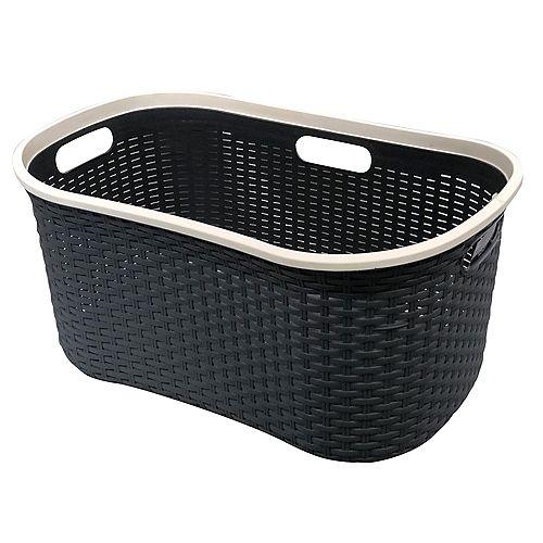 40L Laundry Basket with Color Rim