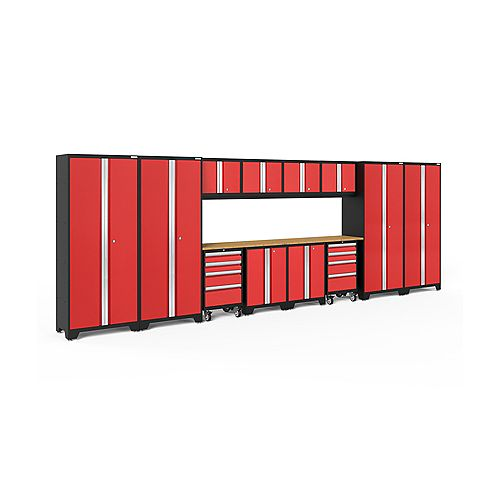 Bold Series Red 14 Piece Cabinet Set