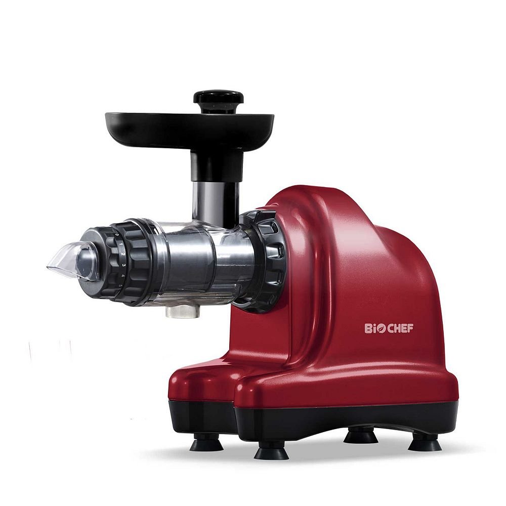 BioChef BIOCHEF AXIS COLD PRESS, MASTICATING ULTIMATE LEAFY GREEN JUICER & LIVING FOOD KITCHEN MACHINE (RED)
